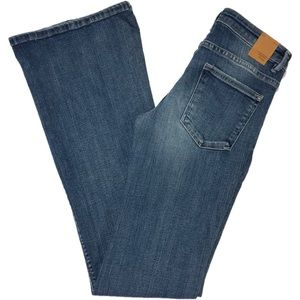 New Zara The Dreamer Skinny Flare Med Wash Jeans
